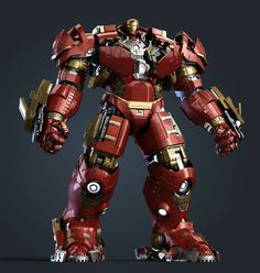 """Hulkbuster - Awesomely detailed Fan art for the character Hulbuster from the movie """"Avengers: Age Of Ultron"""" by China based artist and designer Liu haifan. Comic Book Characters, Marvel Characters, Comic Character, Comic Books Art, Marvel E Dc, Marvel Heroes, Marvel Avengers, Iron Man Hulkbuster, Iron Man Art"""