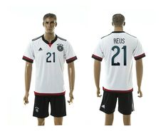 2015 Germany #21 REUS Home White Soccer Jersey