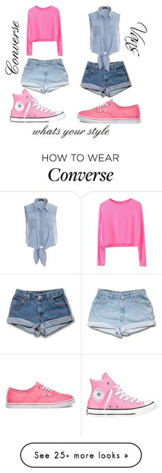 """#whats your style converse or vans"" by galaxy10 on Polyvore featuring Converse and Vans"