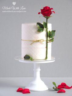 Rose Stem Valentine Cake by Pamela McCaffrey