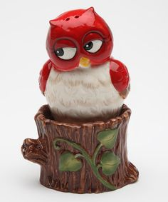 This Owl & Tree Salt & Pepper Shakers by Sugar High Social is perfect! #zulilyfinds