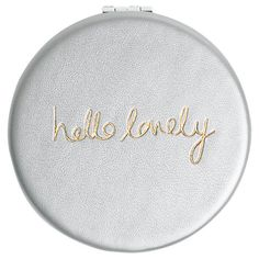 Buy Katie Loxton Hello Lovely Compact Mirror, Silver Online at johnlewis.com