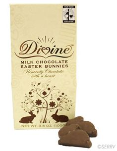 Fairtrade chocolate bunnies just in time for Easter!! Plus no artificial flavors, colors or preservatives!