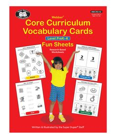 Super Duper Publications Webber Core Curriculum Vocabulary Cards Fun Sheets: Level Pre-K Vocabulary In Context, Vocabulary Cards, Kindergarten Curriculum, Homeschool Curriculum, Student Learning, Fun Learning, Student Jobs, Speech And Language