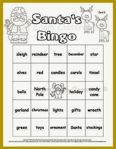 "Need a game for your holiday party?  They'll love ""Santa's Bingo"".  $"