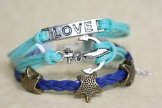 ESCAPE Handmade Bracelet Starfish Anchor Love by ilovecheesygrits, $6.95