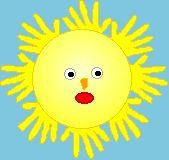 zon met handjes