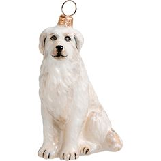 Great Pyrenees Dog Ornament for Liv and Isabella? Pyrenees Puppies, Great Pyrenees Dog, Animals And Pets, Cute Animals, Dogs Online, Dog Ornaments, Vintage Ornaments, Lhasa Apso, Joy To The World