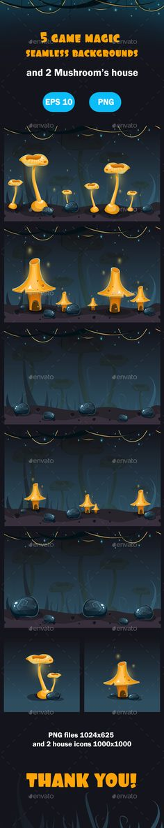 Magic Forest Seamless Backgrounds Download here: https://graphicriver.net/item/magic-forest-seamless-backgrounds/18604425?ref=KlitVogli