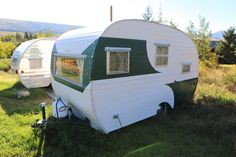 Vintage Camper Trailers For Sale - 1954 Cardinal (12ft long.) approx 1500lbs. This camper is in great shape, and has been redone (not restored). It's ready to go.