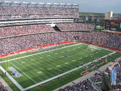 Gillette Stadium - Foxboro, Massachusetts home of the New England Patriots. Boston