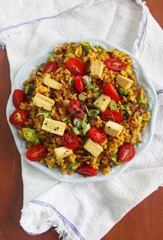 Turmeric Rice with Okra