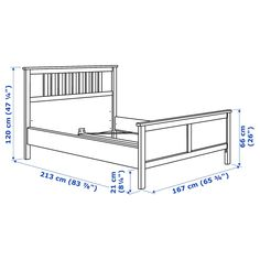 IKEA - HEMNES, Bed frame, dark gray stained, Adjustable bed sides allow you to use mattresses of different thicknesses. Made of solid wood, which is a durable and warm natural material. Slatted bed base and mattress sold separately. Full Bed Frame, King Bed Frame, Cama Industrial, Hemnes Bed, Ikea Family, Bed Slats, White Stain, Bed Base, Under Bed Storage
