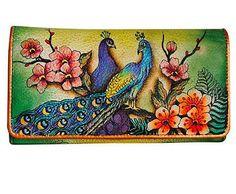 Anuschka_Passionate Peacocks Accordian Flap Wallet
