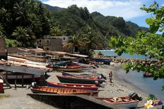 Grand-Rivière - l'ancien Port de pêche - Martinique - Antilles © AliZéMédia