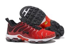 5077d13d8892a Comfortable Nike Air Max Plus TN Ultra Sneakers Red Black Men s Women s Running  Shoes 881560 432