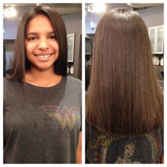 a treatment with Rayna Anderson Shiny Hair, Straight Hairstyles, Salons, Long Hair Styles, Beautiful, Beauty, Garden, Glossy Hair, Garten