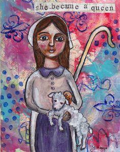 St Germaine Saint art saint patron des pauvres par WhenHeartsListen
