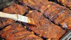 Reteta de coaste de porc BBQ… la cuptor Martha Stewart, Barbecue, Steak, Pork, Food And Drink, Kale Stir Fry, Barrel Smoker, Bbq, Steaks