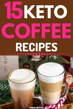 The Top 15 Keto Coffee Recipes To Start Your Day Right! Who said you have to stick to having your usual black coffee without the flavor? Check these keto coffee recipes to get your energy with great taste and NO carbs! Apple Smoothies, Strawberry Smoothie, Grapefruit Smoothie, Chia Pudding, Crockpot, Keto Coffee Recipe, Keto Coffee Creamer, Keto Lunch Ideas, Lunch Recipes
