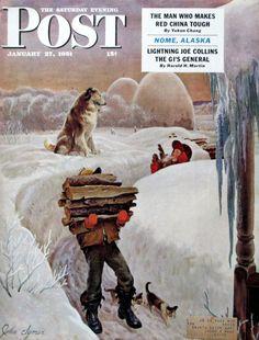 John Clymer art for 1950s Saturday Evening Post #RetroReveries