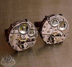 mechanical cufflinks for the architect Damon