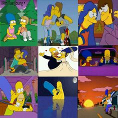 Homer And Marge, Snoopy, My Favorite Things, Cool Stuff, Couples, Crochet, Disney, Fictional Characters, Wall