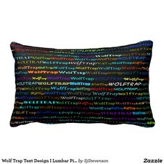 Wolf Trap Text Design I Lumbar Pillow
