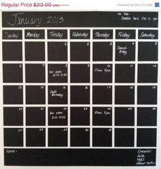 Hey, I found this really awesome Etsy listing at https://www.etsy.com/listing/121220482/sale-vinyl-chalkboard-calendar-monthly
