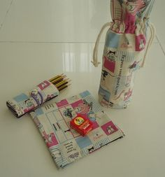 Back to school 3 piece fabric bag gift set for by drawastring, $13.99