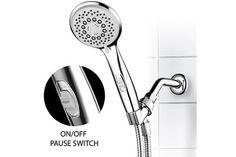 HotelSpa® High-Power Spiral 7-Setting Ultra-Luxury Handheld Shower-Head