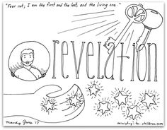 Revelation Bible Book Coloring Page