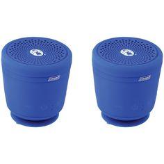 Coleman Aktiv Sounds Tws Waterproof Bluetooth Speaker (blue; 2 Pk)