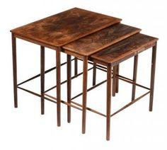Grete Jalk Nesting Tables For Poul Jeppsen, 1950s