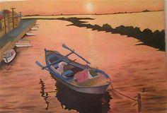 boat on sunset - Media - Artist Daily