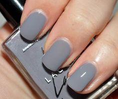loving grey nail polish today :)