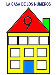 9 Learning Numbers Preschool, Kindergarten Math, House Template, All Schools, Math Numbers, Busy Book, Games For Kids, Teaching, Count