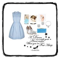 """""""Cinderella"""" by shmaby ❤ liked on Polyvore featuring Casetify, Bloomingdale's, Jimmy Choo and Disney"""