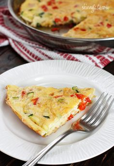 Caramelized Onion, Red Pepper and Zucchini Frittata – perfect for Mother's Day Brunch