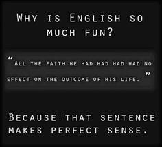 English is really beautiful!
