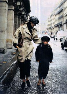 """""""Heures De La Vie D'un Tailleur"""", Elle France, October 1988Photographer: Pamela HansonModel&Elliott"""
