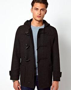 ASOS Duffle Coat In Charcoal