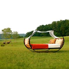 yes, I said rocking bed!  Yes please. decor, outdoor bed, beds, stuff, dream furnitur, hous, fun, rock bed, thing