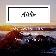 Aislin girl's name - Babies Girl Names - Ideas of Babies Girl Names - Aislin girl's name Female Character Names, Female Names, Pretty Names, Cool Names, Name Inspiration, Writing Inspiration, Baby Girl Names, Kid Names, Writing A Book