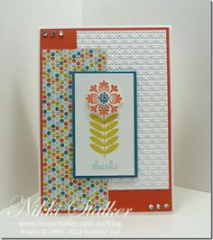 by Nicole Stalker - Woo Hoo! Scrapbook Paper Crafts, Paper Crafting, Scrapbooking, Cascading Card, One Sheet Wonder, Punch Art, Flower Cards, Baby Cards, Diy Projects To Try