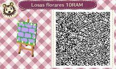 Este es un QR Code para Animal Crossing, creado por mí; como podéis observar, es una losa floral en color morado. [10-17]  Lo podéis encontrar en mi canal de YouTube: https://www.youtube.com/channel/UCh6uwa2CjSgR4WQ-ghRQY6Q (Roxy).  ¡Espero qué os guste! ;)