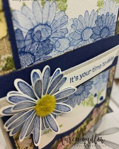 Something a little bit different for me but certainly enjoyed trying something out of my comfort zone. The scalloped edge Framelit is… Stampin Up Catalog, Flower Center, Scalloped Edge, Stamp Sets, Stamping Up, Comfort Zone, Daisies, Scrapbook Layouts, Blossoms