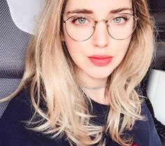 Metal, wire frame glasses with clear rounded lenses. Details Lens Height: 45mm Lens Width: 50mm Frame Width: 145mm Frame Material: Metal Lens Material: Acrylic