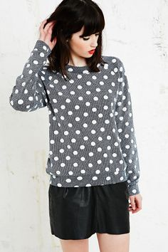 Cooperative Jacquard Sweatshirt in Polka Dot - Urban Outfitters