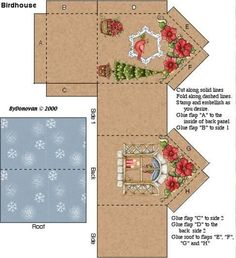 Image result for 3d paper house craft dies